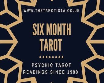 6 Month Detailed Psychic Tarot Reading by Email with Photos, by Psychic Reader of 30 years experience