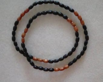 Men's 25 inch Stretch Wooden Necklace.