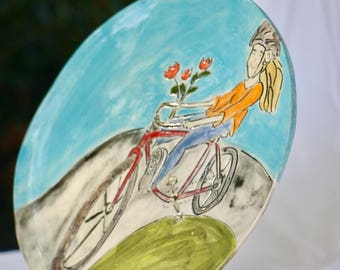 Bicycle Plate on White clay