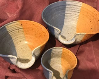 Hawkins pottery bowls hand made