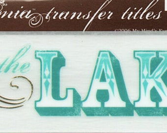 On The Lake Title Rub On Transfer Embellishments Cardmaking Crafts My Mind's Eye Bohemia