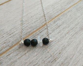 Tiny trio LAVA Diffuser Necklace
