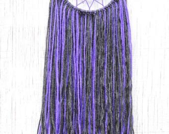 Gray & Purple Beaded Dreamcatcher