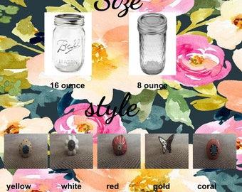 Custom Decorated Mason Jar
