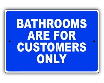 Bathrooms Aluminum Sign