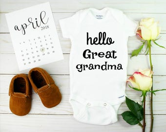Baby Announcement to great grandma