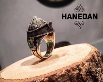 Handmade silver ring 925K