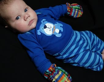 Reversiable Infant Scratch Mittens