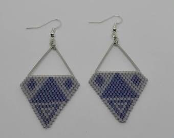 Miyuki beads earrings - triangle