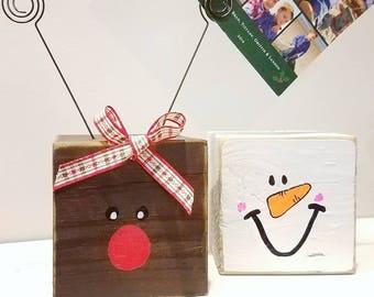 Reindeer block picture holder