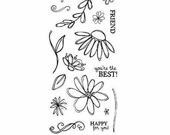Fiskars ~Petals From Scratch~ 17 pc. Clear Stamp Set