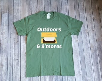 Outdoors & S'mores, Funny Camping shirt