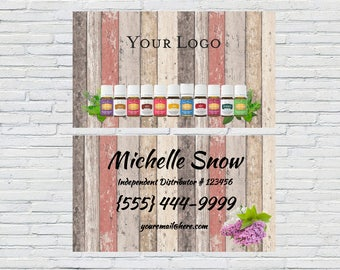 Multi-wood Essential Oils Business Card, Printable, Download, Digital File, Small Business, Business Card Design, Independent Distributor