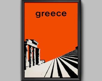 Greece Travel Poster - 1963 - Greece Poster - Greece Art - Athens Poster - Greece Print - Greek Poster - Greek Travel Poster - Greece Travel