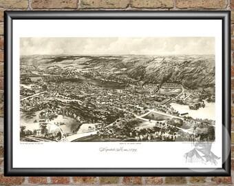 Hopedale, Massachusetts Art Print From 1899 - Digitally Restored Old Hopedale, MA Map - Perfect For Fans Of Massachusetts History