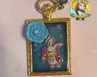 White Rabbit- Alice in Wonderland Pocket Watch Charm