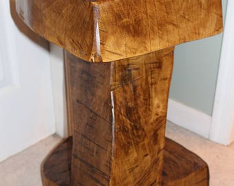 "Stunning Maple Table Base Log Wood Stump 23"" x 14"" x 14"""