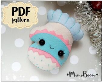 Christmas mitten pattern felt Christmas patterns Mitten pattern Advent calendar pattern Christmas PDF pattern Christmas ornaments sewing PDF