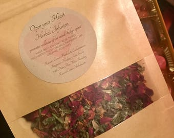 Open Your Heart Herbal Infusion-Rose Petal Tea Blend