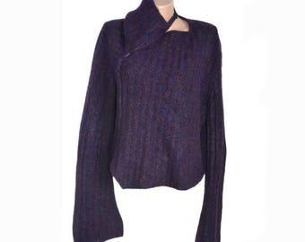 Vintage SARAH PACINI women tops blouses violet