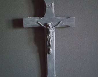 small gray Gustavian antique crucifix