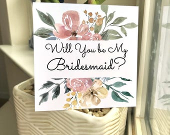 DISCOUNTED Bridal Party Proposal Cards, Will You Be My Bridesmaid, Bridesmaid Proposal, Floral