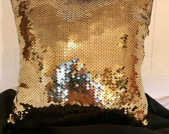 Gold Sequines Pillow