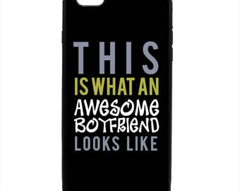 This Is An Awesome Boyfriend Print Pattern Phone Case Samsung Galaxy S6 S7 S8 Note Edge Apple iPhone 4 5 5S 5C 6 6S 7 8 X Plus GE skin