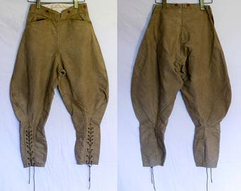 1910's Edwardian Laced Cotton Jodhpurs Riding Pants Breeches Equestrian Land Girl