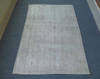 Faded Turkish Rug, Turkish Rug, Distressed Rug, Home Decor Rug, Handwoven Rug, Wool Rug