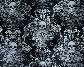 PATCHWORK fabric Timeless Treasures WICKED - C 3759 gray