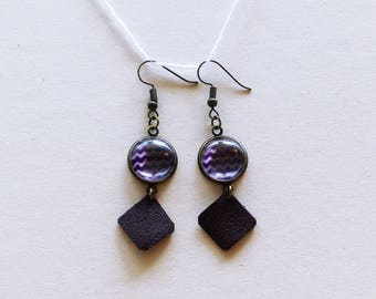 African fabric earrings