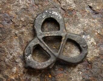 Ancient Viking 8th-10th Century A.D. Large Bronze Interlaced Trefoil Knot Celtic Knot Pendant Celtic Trinity knot necklace