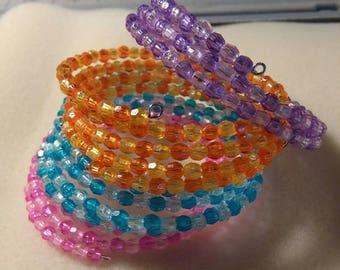 Beautiful Duo Color Memory Wire Bracelet