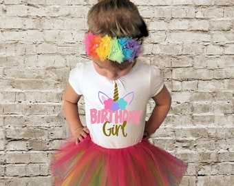Unicorn birthday Shirt Unicorn Birthday onesie Girl Birthday shirt