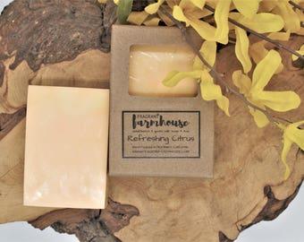 Refreshing Citrus - Bar Soap - Goats Milk - All Natural - Farmhouse - Fresh  - Natural Soap - Citrus Goats Milk Soap - Handmade Soap