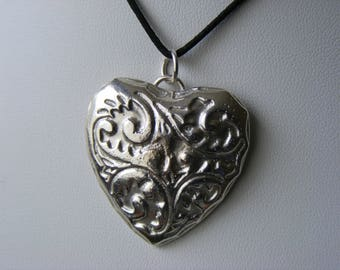 Heart Pendant - 925 Sterling Silver - Hallmarked