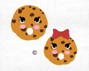chocolate chip face SVG Clipart Cut Files Silhouette Cameo Svg for Cricut and Vinyl File cutting Digital cuts file DXF Png Pdf Eps