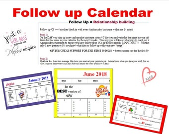 Follow Up Calendar 2018