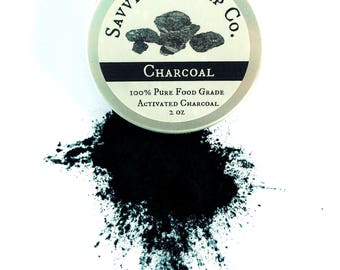 100% Pure Food Grade Activated Charcoal Powder - Face mask, teeth whitening