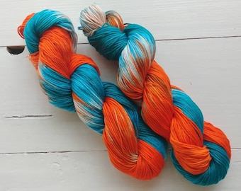 GO PHINS, Hand dyed yarn, 4ply, Pima Cotton Yarn