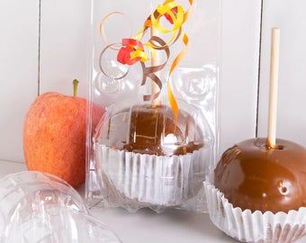 1 Dozen Plastic Apple Bubbles Non-Self Locking for Candy Apples, Treats