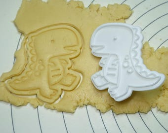 Cute T-Rex  Cookie Cutter and Stamper