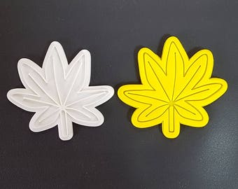 Maple Leaf  Cookie Cutter and Stamp