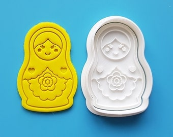 Russian Doll(Matryoshka) Cookie Cutter and Stamp