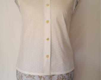 Womens clothing. sleeveless womens summer suit. Women linen shirt. women formal skirt. Size UK 10/12