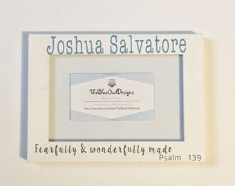 Personalized Picture Frame w/ Quote