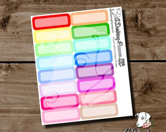 Summer Multi-color Rounded Quarter-box Planner Stickers
