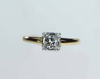Vintage 1940s Diamond Engagement Ring .25ct