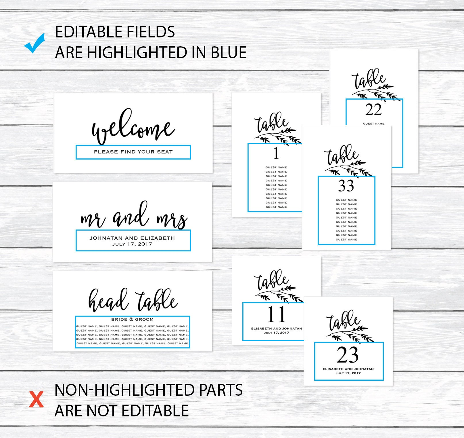 table arrangement template